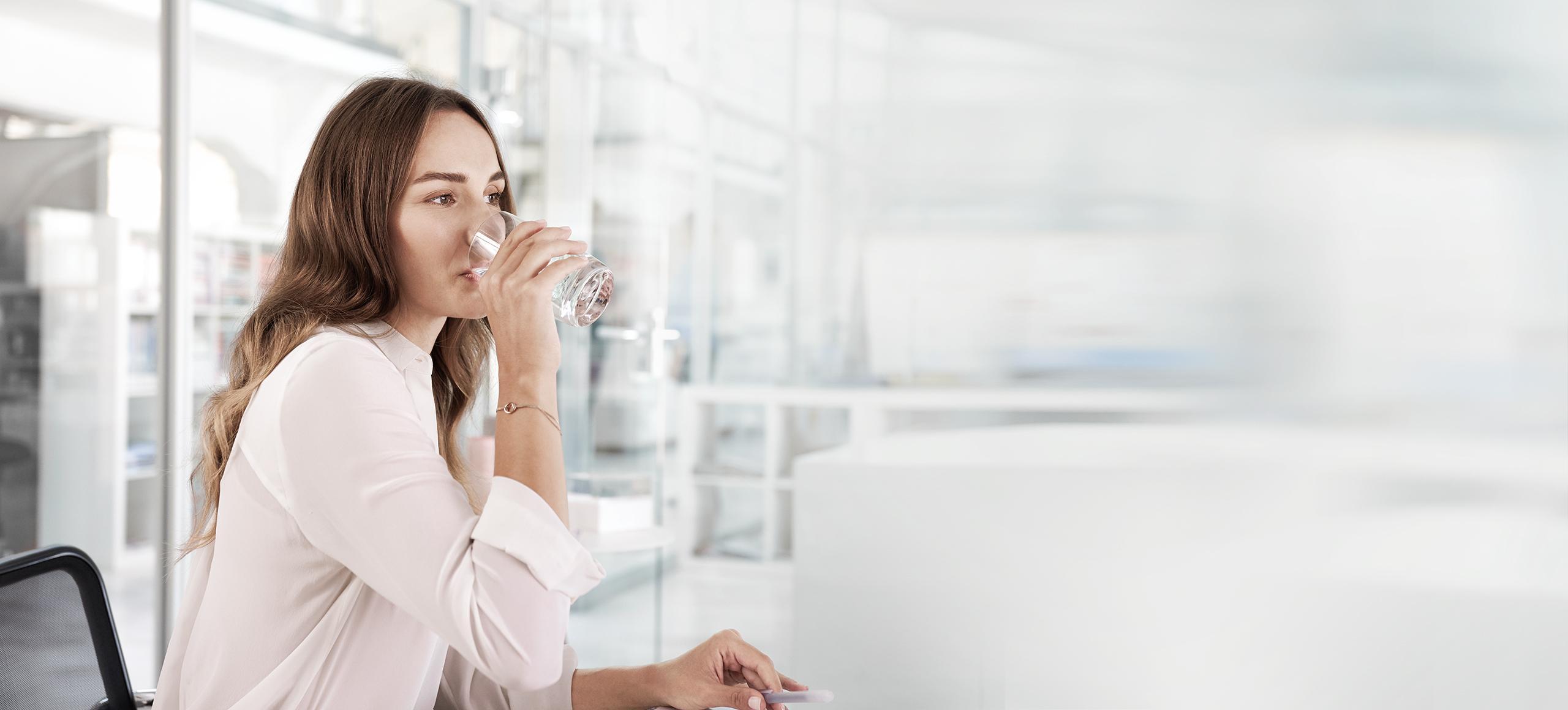 BRITA dispenser accessories woman drinking