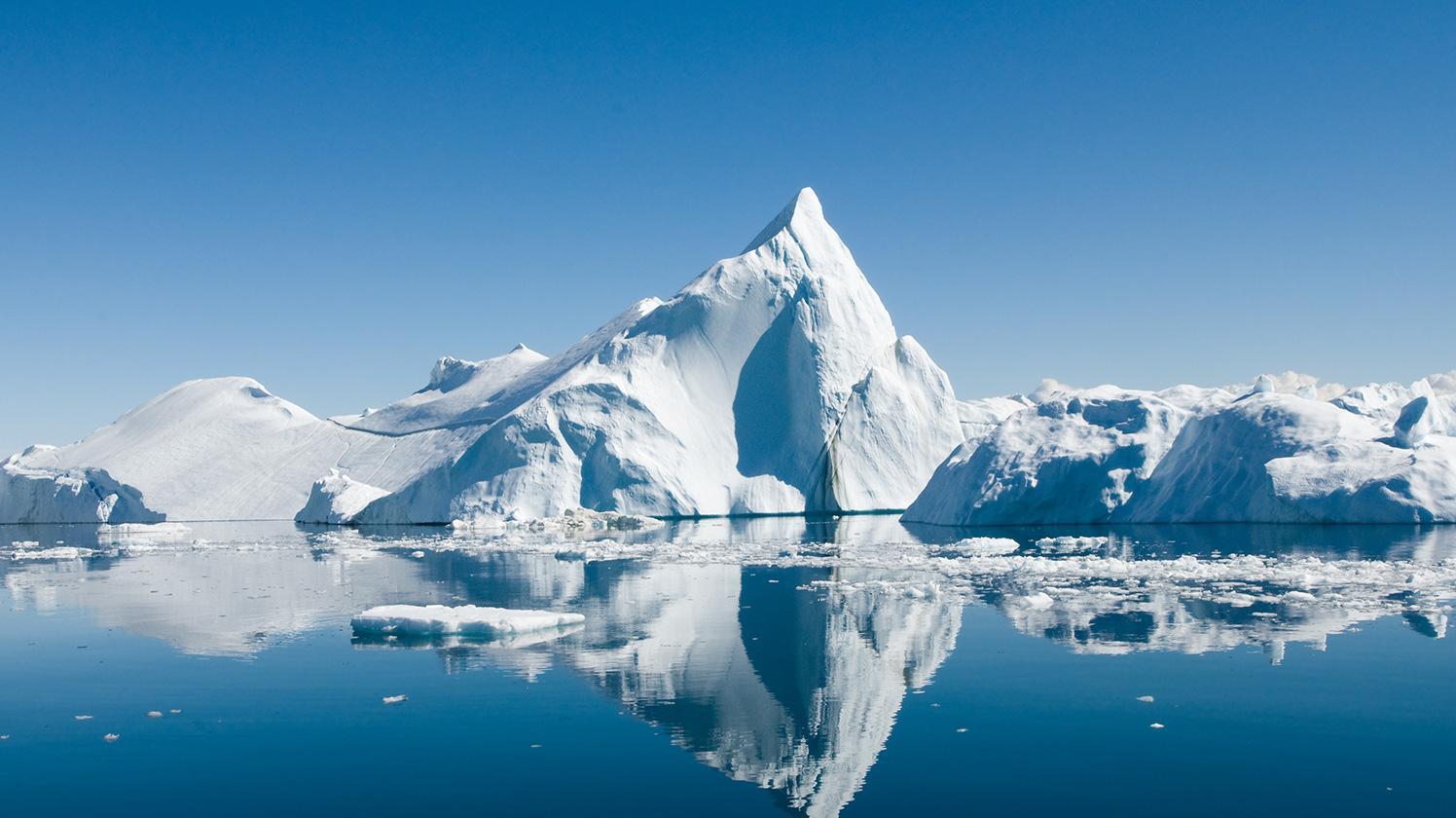 BRITA gesündere Umwelt schwimmender Eisberg